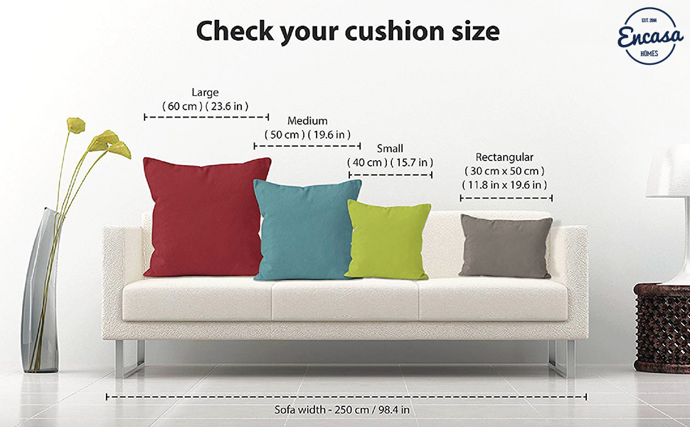 Cushion Cover Size Chart