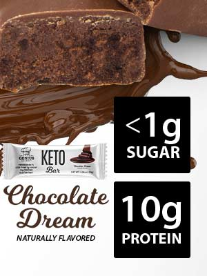 genius gourmet keto protein bars chocolate dream for your low carb quest this is the perfect snack