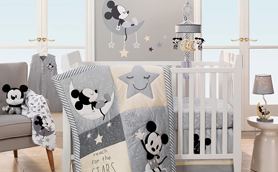 Amazon Com Lambs Ivy Mickey Mouse 4piece Crib Bedding Set
