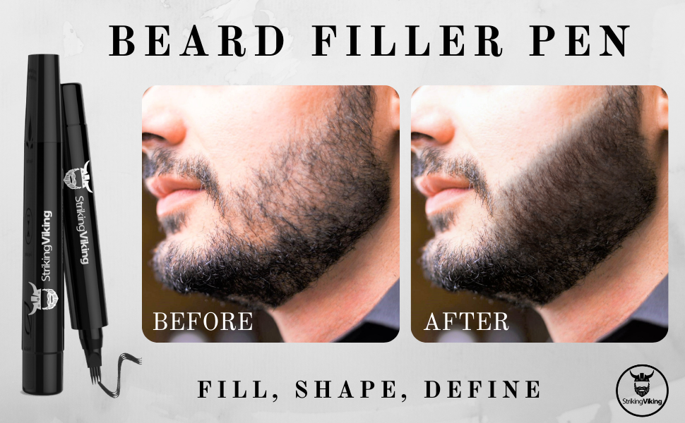 beard filler pencil, beard filler, beard pen, patchy beard filler, beard filling pen kit