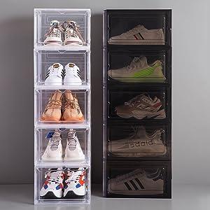 Dorp front shoe box,stackable Plastic Shoe box,Clear shoe box,shoe storage box,shoe box organizer