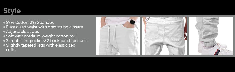 Men's Harem Twill Jogger Pants Style