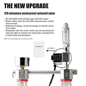 Válvula solenoide miniatura a prueba de agua de 12V