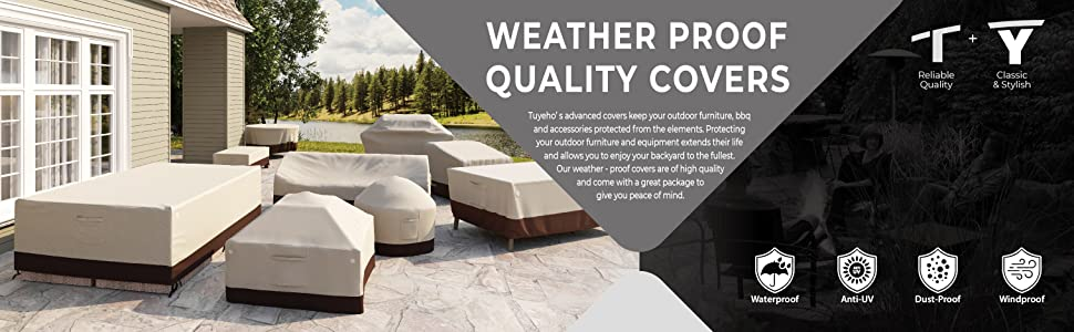 PJDH Outdoor 3-Seater Patio Sofa /& Bench Seat Cover Waterproof Weather Resistant Outdoor Furniture Cover Beige 78x38x29 Inches