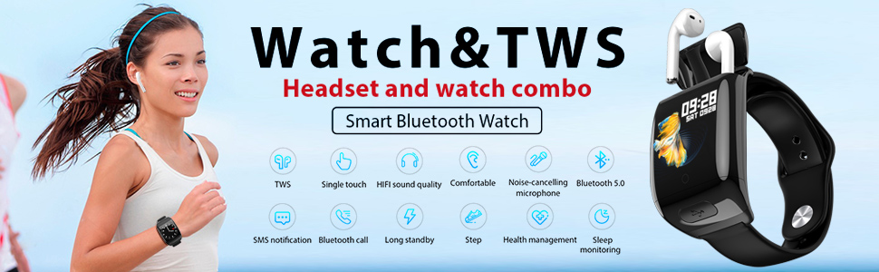 2-in-1 smartwatch and in-ear earbuds combo