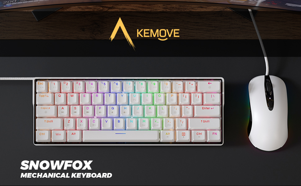 KEMOVE 61 mechanical keyboard bluetooth 5.1 hot swappable switch compact classic 60% 61keys minimal