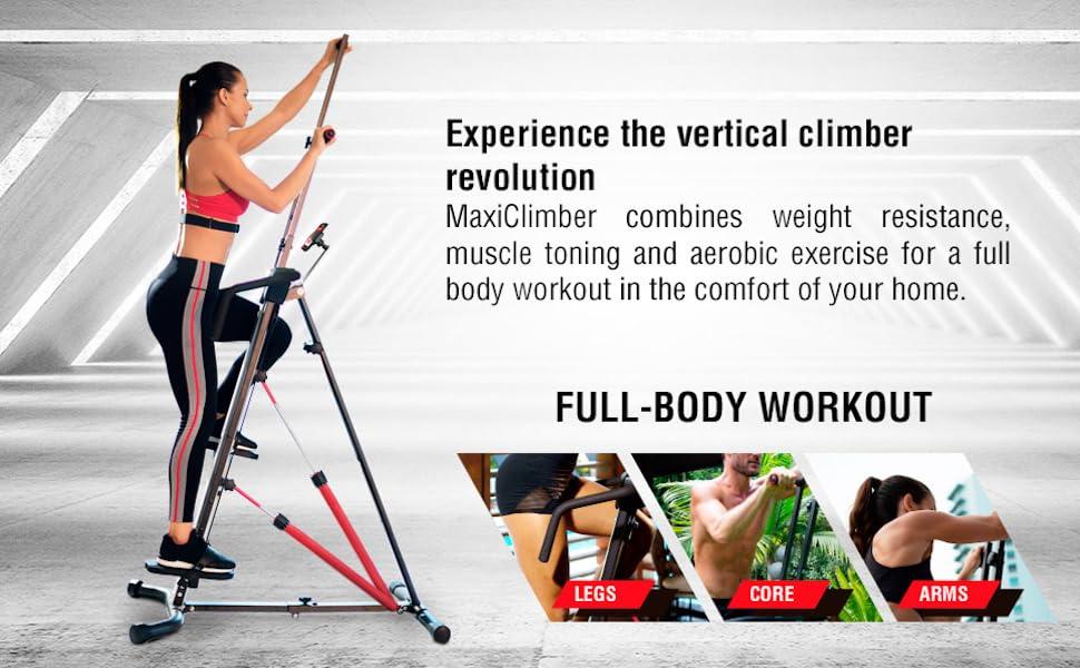 maxiclimber maxi climber xl 1000 2000 original classic sport step machine vertical stepper home gym