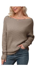 IWOLLENCE Womens Waffle Knit Tunic Casual Blouse