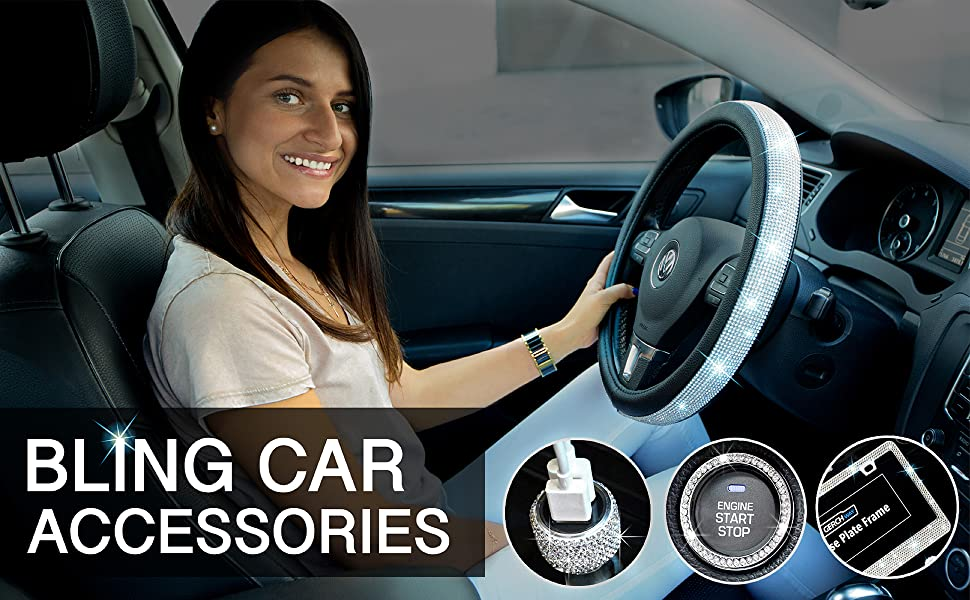 Bling car accessories for woman