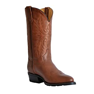 Men's Cowboy Round Toe Western Boot with Rubber Sole