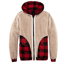Women's Plaid Flannel Shirt  hooded sweat jacket
