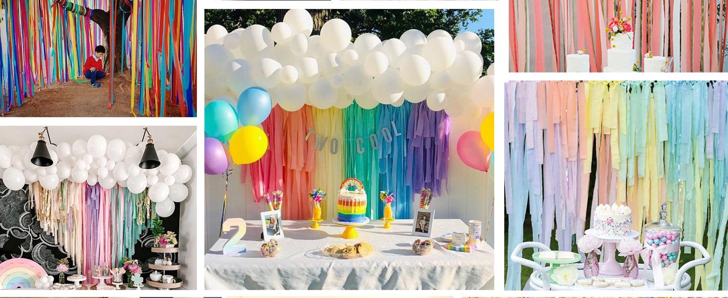 PartyWoo Gold and Black Balloon Garland Kit