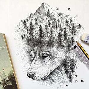 Black Micro-Pen Fineliner Ink Pens