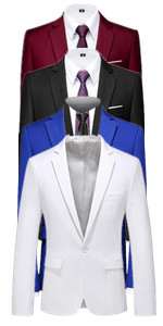 Mens Blazer Slim Fit Sport Coats 21 Colors for Daily Business and Party