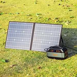 ソーラーパネルにてエコ充電