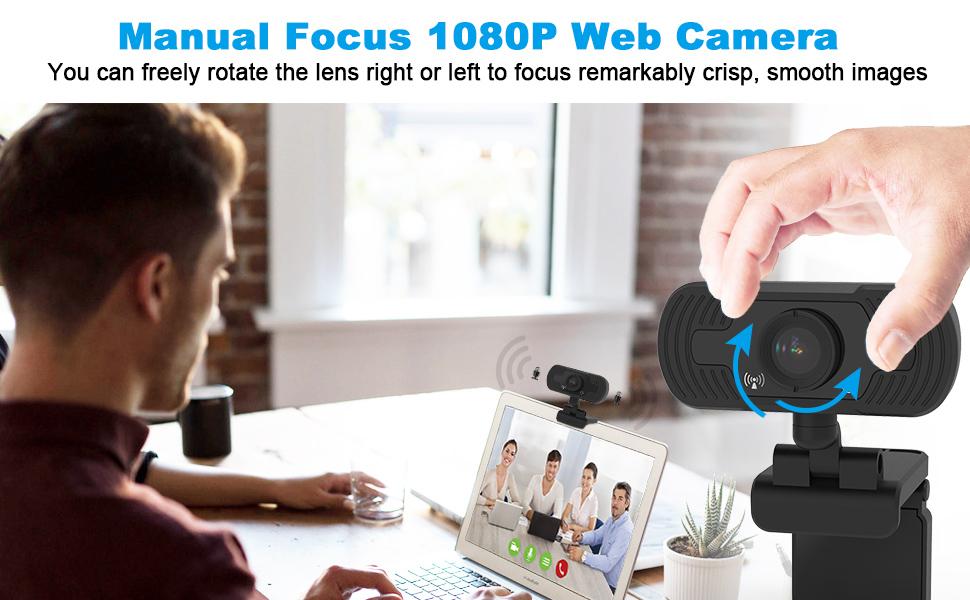 fuvision webcam,web camera,1080p webcam, computer amera with microphone, webcam with microphone