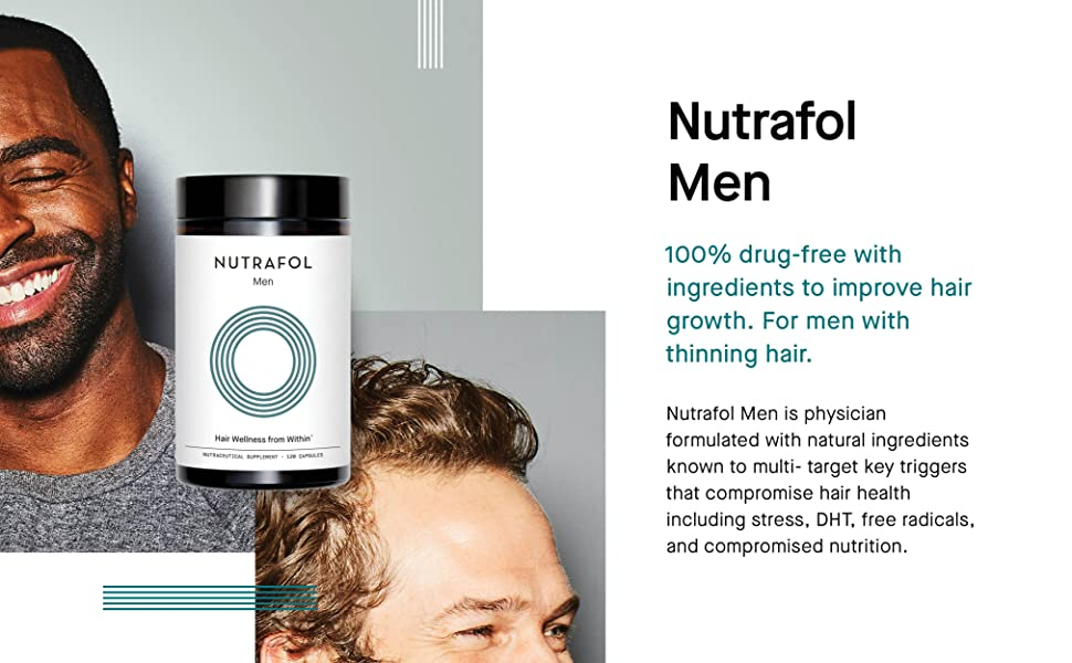 nutrafol male hair loss growth thinning men pattern baldness natural ingredients saw palmetto biotin