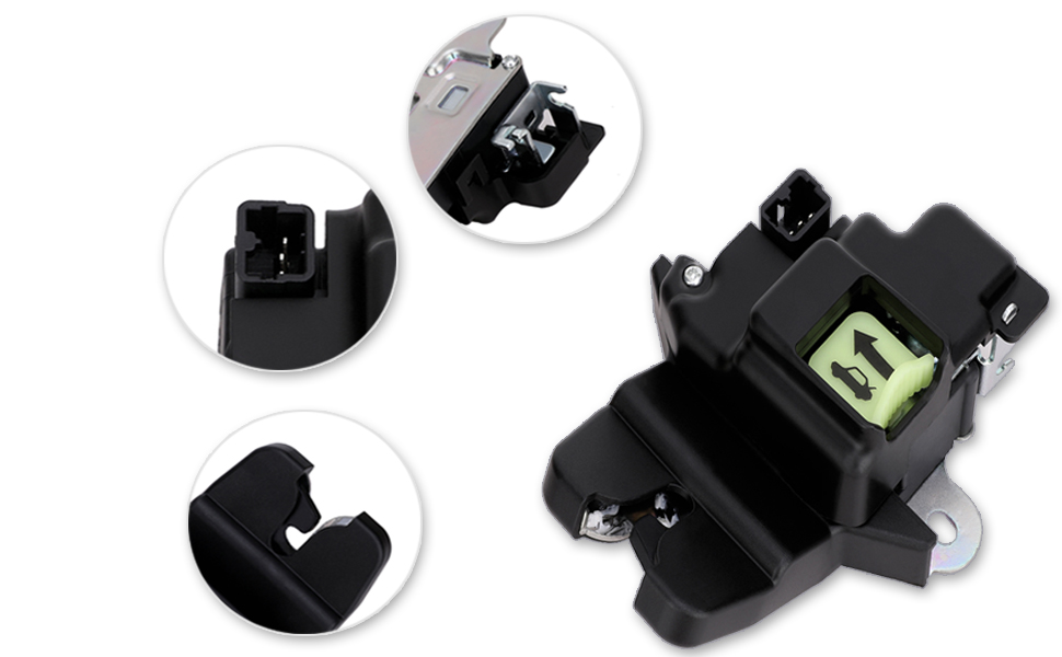 719-901 Tailgate Latch Lock Actuator Motor Rear Trunk Lid Central Latch Assembly for Hyundai Elantra