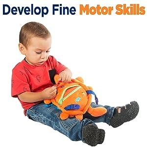 toddler activity board Montessori buckle travel zipper therapy skills colors teaching preschool