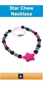 star chew necklace