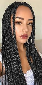 black kanekalon braiding hair black synthetic hair for braids black braiding hair kanekalon hair