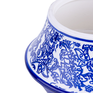 Blue and white porcelain pattern