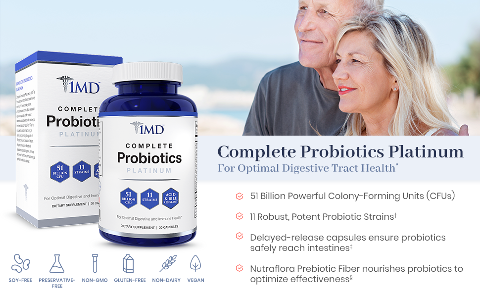 1MD Complete Probiotics Platinum - Couple on beach