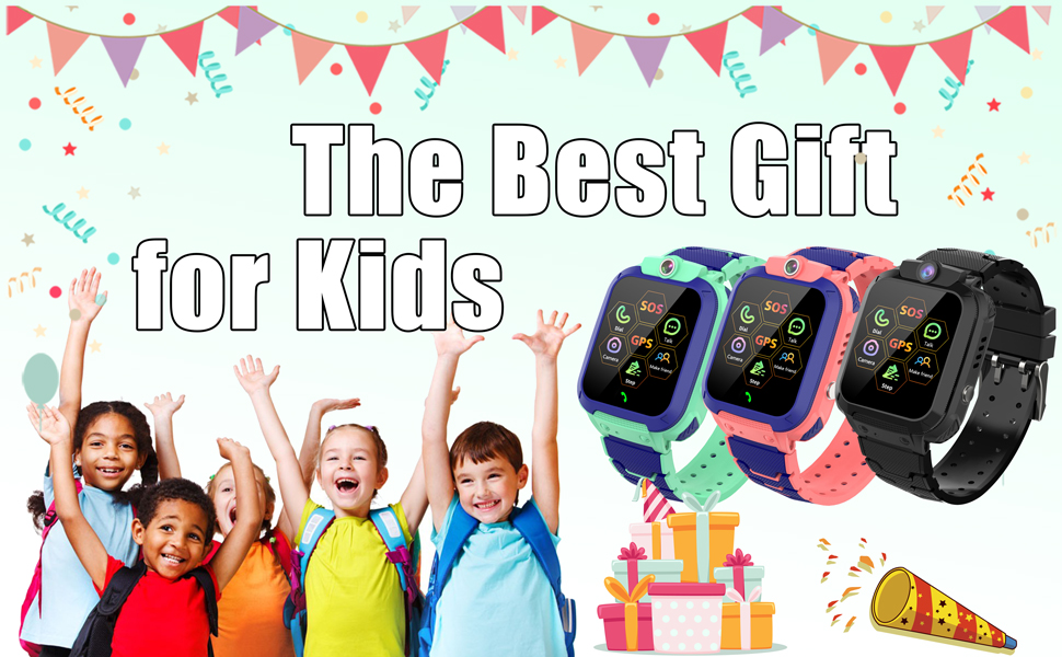 Boys girls kids smartwatch phone with GPS tracker phone boys girls sos christmas gift for childrens