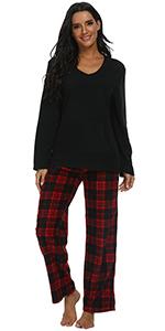 Womens Plaid Pajama Set