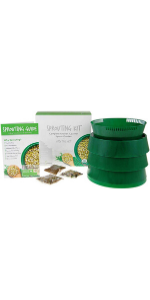 deluxe sprout garden three tray sprouter by handy pantry kit