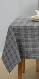 Deconovo Buffalo Decorative Checkered Tablecloth Water and Wrinkle Resistant Rectangle Tablecloths