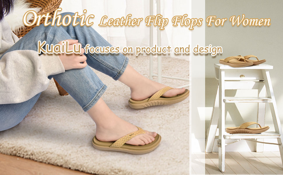 women flip flops with arch support