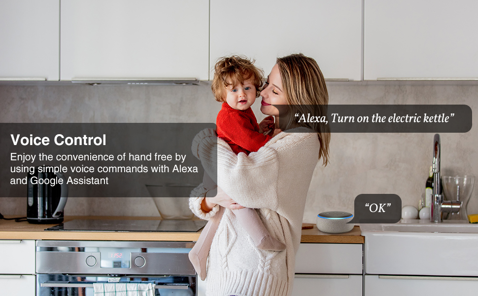 Voice Control by alexa and google home, enjoy hand free convenience