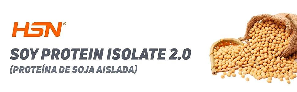 Proteína de Soja de HSN Essentials | Proteína Vegana | Soy Isolate Protein | Sin Gluten, Sin Colesterol, Sin Lactosa, Sabor Vainilla, 500g
