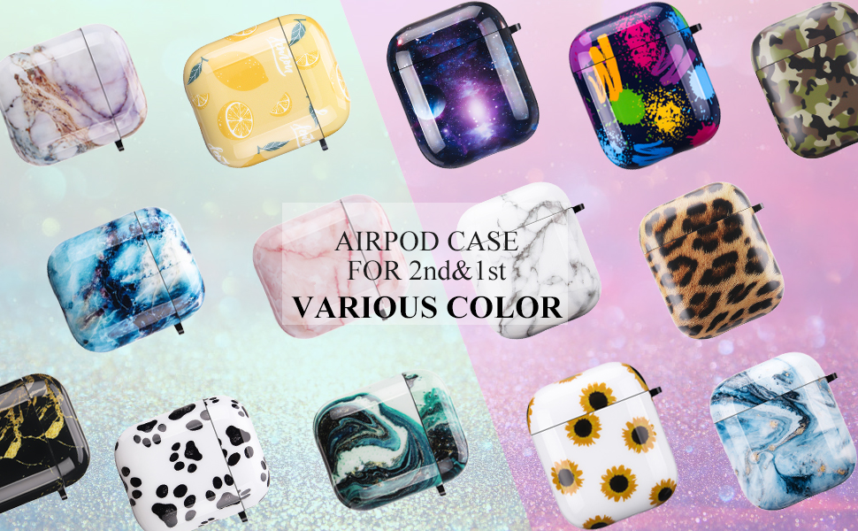 airpods case ice blue marble
