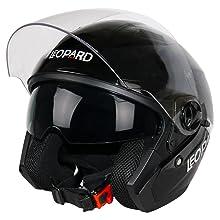 Motorradhelm Damen und Herren ECE Genehmigt Leopard LEO-813 Integralhelm XS-XXL