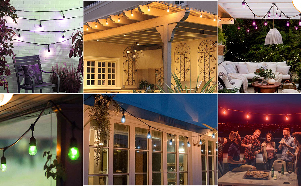 color changing outdoor string light