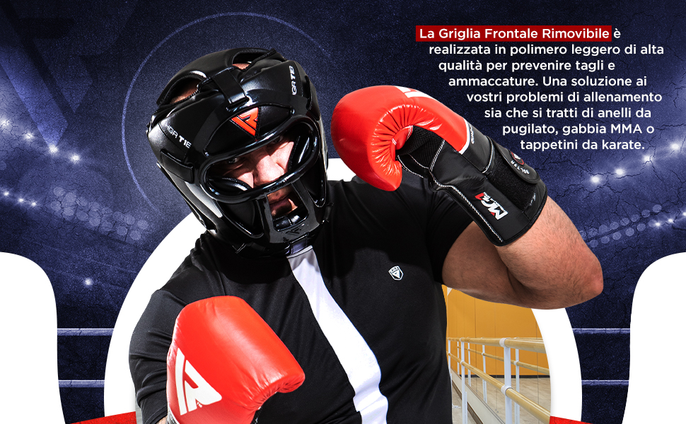 Caschetto Boxe MMA Pugilato Casco Kick Boxing Protezione Muay Thai