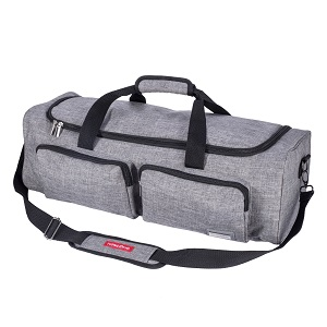 Attached with sturdy handles and a detachable shoulder strap