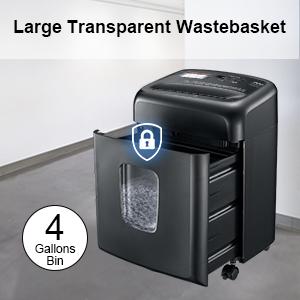 Large Transparent Wastebacket