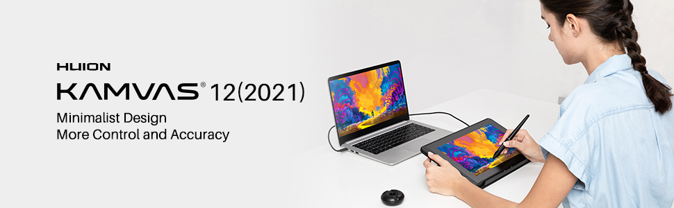 HUION, drawing tablet with screen, graphics monitor, Intuos, Cintiq, animation, pen display, art