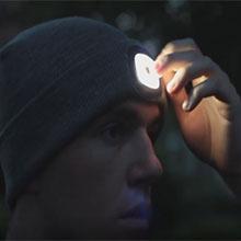Warme LED-Strickmütze mit