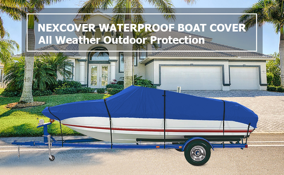NEXCOVER WATERPROOF BOAT COVER