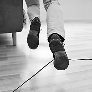man fall down by a cable