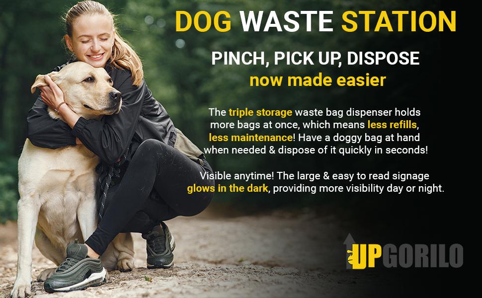 dog waste station mini upgorilo