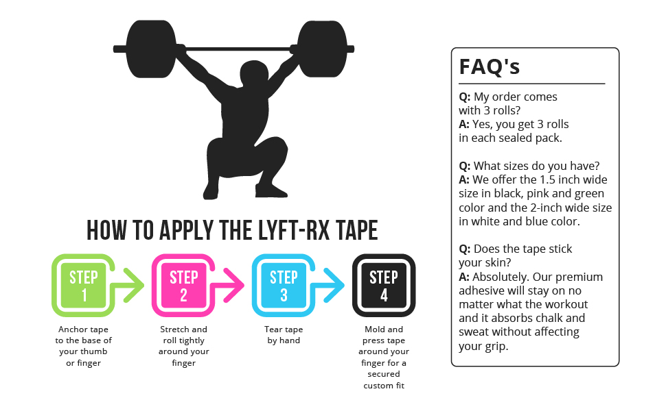 LYFT-RX weightlifting tape