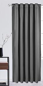 rod pocket and back tab blackout curtain panels