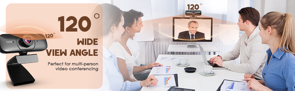 120 degeree wide view angle web camera perfect for video conferencing