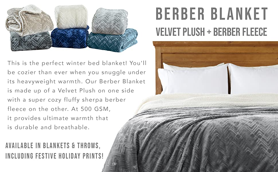 Amazon Com Home Fashion Designs Premium Reversible Two In One Sherpa And Fleece Velvet Plush Blanket Fuzzy Cozy All Season Berber Fleece Throw Blanket Brand Blue Surf Home Kitchen