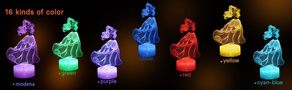3D Nachtlicht Frozen Elsa Anna LED Nachtlampe Tischleuchte Decorative Gift